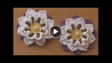 Crochet Flower VERY EASY Tutorial #3