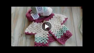 How to Crochet a Baby Cardigan 0-6 months - MillaMia Yarn Review