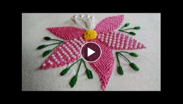 Hand Embroidery: Trellis Stitch