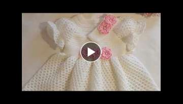 How to crochet stylish baby frock for Newborn ( 0 to 3 ) Month Baby