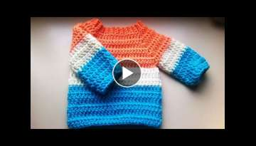 crochet baby sweater/jumper/pullover