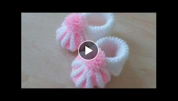 New Knitting Stitch Pattern For Baby Booties