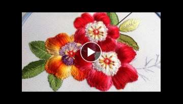 EMBROIDERY: PUFFED FLOWER