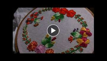 Hand embroidery designs - Hand embroidery stitches tutorial - Button hole stitch - cretan stitch