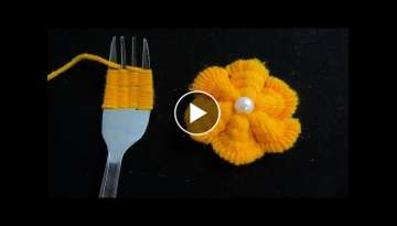Hand Embroidery Amazing Trick, Easy Flower Embroidery Trick with Spoon, Sewing Hack