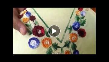 Hand Embroidery :Gobhi Design/Cabbage stitch