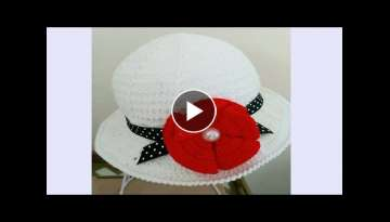 HAT FOR GIRLS CROCHET SUMMER - STEP BY STEP - 6 TO 12 MONTHS