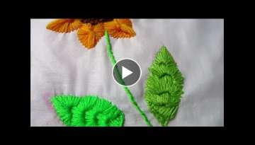 Hand Embroidery | Sunflower stitches # Part 2