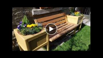 making a garden bench and planters