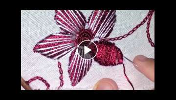 Bordado de rosa Martiz sublime - hand embroidery