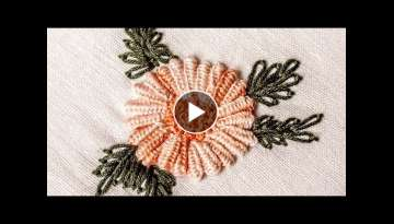 Hand Embroidery Designs | Double cast on stitch | HandiWorks