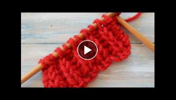 English Rib / Fisherman's Rib Knitting Stitch Variation (Slip 1 as if to Purl, K YO tog)