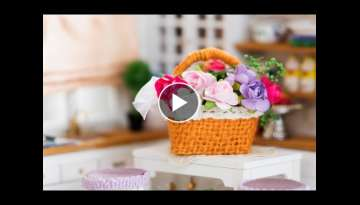 DIY Miniature Flower Basket Tutorial - Nendoroid & Doll Accessories