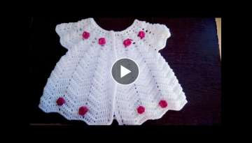 very easy and beautiful crochet frock tutorial 1to 3 years