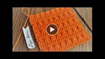 Crochet front post treble cluster - Stitch idea for blankets and scarves