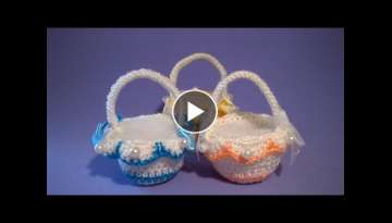 Cestino Uncinetto Tutorial - Small Basket Crochet