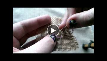 Pin stitch tutorial