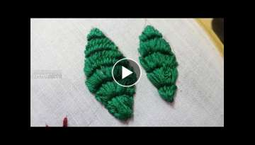 Embroidery Leaves Stitching Process