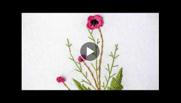 Brazilian Embroidery | Stitching Flower Design by Hand | HandiWorks #98