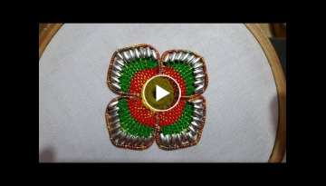 Hand Embroidery Beautiful Border flower stitch for hand work