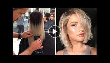 Stunning Short Haircut And Color Transformation For Girls | Beautiful Hairstyles Ideas 2019
