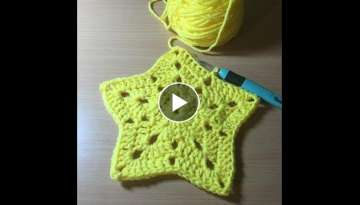 How To Crochet A Star Afghan/Blanket Tutorial