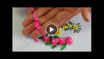 Hand Embroidery: Ribbon Embroidery (Roses)