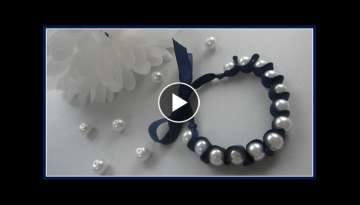 {DIY Fashion} DIY Ribbon and Pearl Bracelet