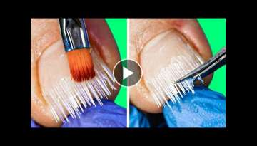 AMAZING NAIL TRANSFORMATION || 30 MANICURE AND PEDICURE HACKS