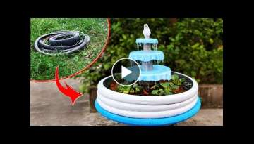 How to Make Amazing AQUARIUM FOUNTAIN Using BICYCLE TIRES