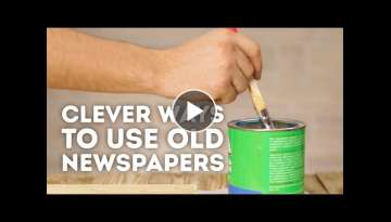 4 wonderful ways to reuse old newspapers l 5-MINUTE CRAFTS