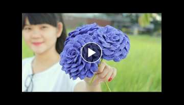 How to make Paper Flower 2017 ( Very Easy ) - DIY Paper Crafts