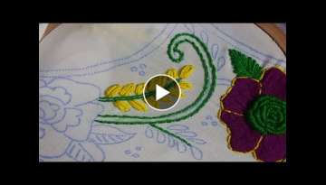 Dandi tanka with lazy Daisy stitch hand embroidery