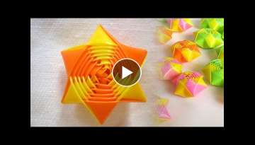 How to make rainbow origami straw stars - Drinking Straw