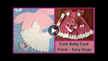 Make Cute Baby Coat Sweater Frock