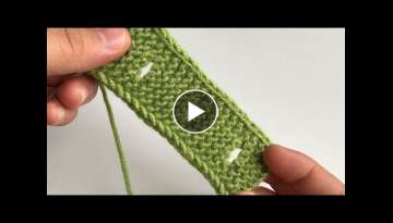 Opening a buttonhole on knitting How to open a buttonhole in 2 different ways, plus a smooth edge...