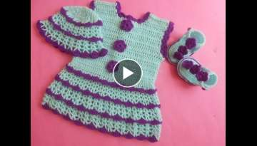 (Crochet-Crosia) how to make Crochet baby dress