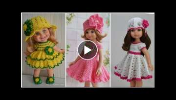 New and latest crochet and knitting baby frocks and dress designs