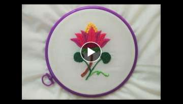 Hand Embroidery - Water Lily Stitch - YouTube
