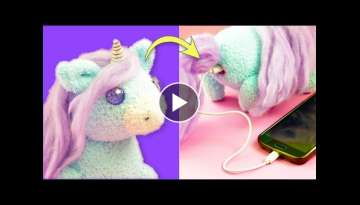 DIY Unicorn Plush Phone Charger