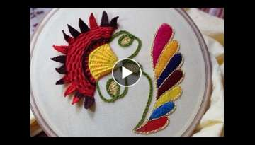 Hand Embroidery Designs | Cushion cover design | Stitch and Flower-109