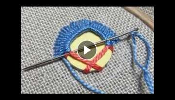 Hand Embroidery : Mirror Work || Shisha Work