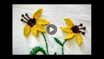 Hand Embroidery - Picot Stitch - Floral Embroidery