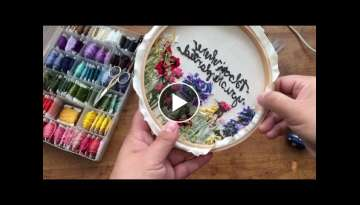 How to Finish An Embroidery Hoop Tutorial