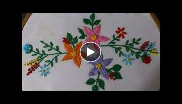 Hand embroidery stitches tutorial - Hand embroidery designs (kashmiri stitch)
