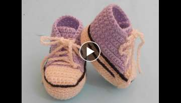 (Crochet-Crosia) crochet sneakers/converse booties tutorial