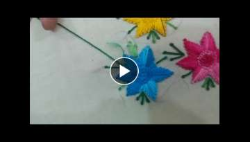 Hand Embroidery: Long tankka 2/ Living stitch 2