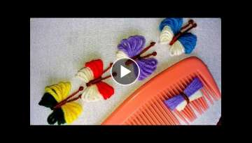 Hand Embroidery Amazing Trick | Butterfly Embroidery Trick