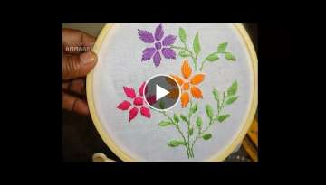 Hand Embroidery Flower Designs by Amma Arts