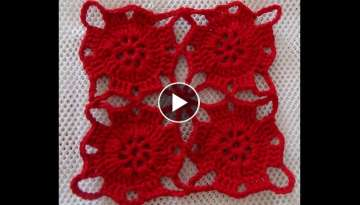 Video Tutorial Como Tejer y Unir Motivos a Crochet
